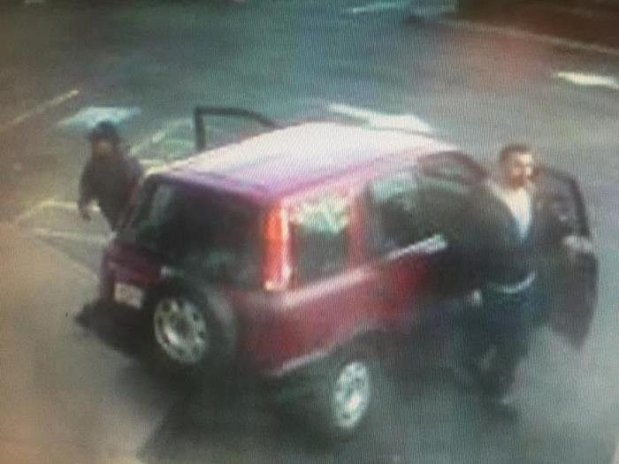 Police are seeking the public's help in identifying these men, who are wanted in connection with the attempted robbery of a 62-year-old Pacifica woman outside a Safeway on the 1100 block of El Camino Real on Wednesday. They were last seen speeding eastbound on Ralston Avenue toward Highway 101 in this older, maroon Honda CR-V.