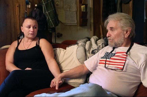 Deanna Scott, with her father Charles Erbert, sit at their home in Red Bluff, Calif., reflecting on the 1984 murder of her mother and his wife Doreen Erbert Monday afternoon, Sep. 19, 2016. They worry that a statewide proposition may let William Dennis, their mother and ex-wife's killer, avoid execution. (Karl Mondon/Bay Area News Group)