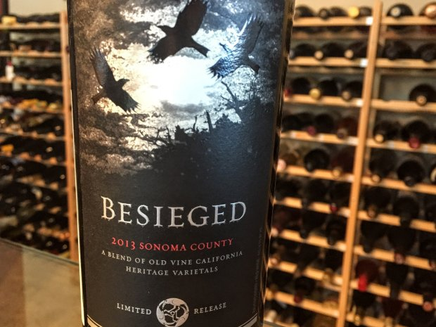 Halloween wine: Ravenswood's Besieged. Photo credit: Mary Orlin/Staff