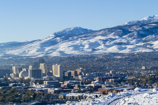 Reno sits in the shadow of snowy Mt. Rose, a 10,778-foot mountain and ski resort that's a local gem. (Photo: Mt. Rose Ski Tahoe)
