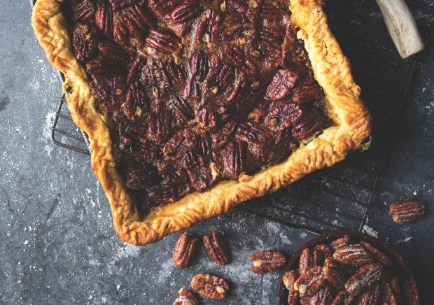 "Pecan pie is classic Thanksgiving fare, but in the hands of Kate McDermott,author of ""Art of the Pie,"" the traditional treat gets a little new wave flair. (Photo credit: Andrew Scrivani)"