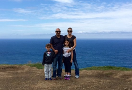 Courtesy of the Pennisi Family IRELAND: Danville residents Mike and Lindsey Pennisi recently visited the Cliffs of Moher with their children, Lucas, age 5, and Reese, 8.