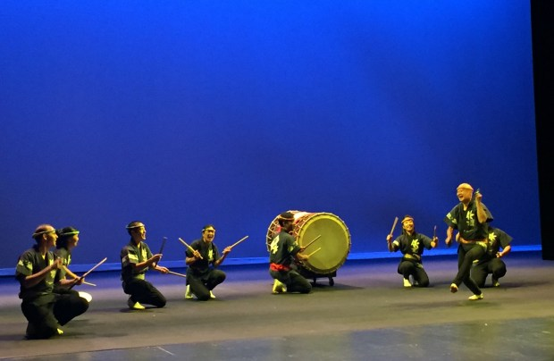 San Jose Taiko performs at the Hammer Theatre Center in downtown San Jose for the Cornerstone of the Arts awards on Friday, Oct. 7, 2016. (Sal Pizarro/Bay Area News Group)