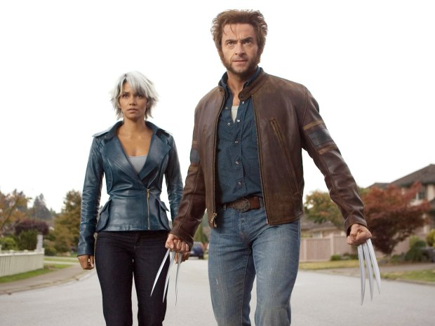 "Storm (Halle Berry) and Wolverine (Hugh Jackman) prepare for the ultimate battle in ""X-Men: The Last Stand."""