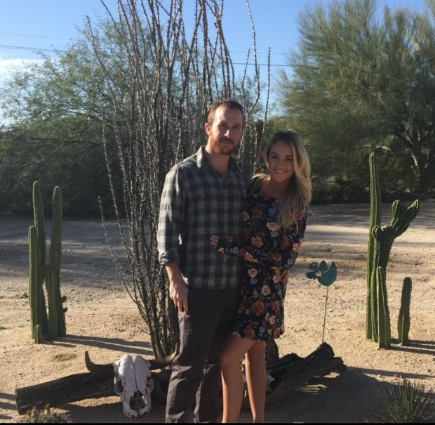 Courtesy of Colin Jordan - Colin Jordan and Savannah Kell, who recently moved to Scottsdale, Arizona after their rent in Redwood City, Calif. became unaffordable. Photo to accompany sjm-rent-1019 by Rich Scheinin.