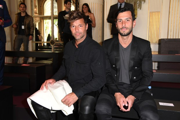 FILE - Ricky Martin and Jwan Yosef Engaged PARIS, FRANCE - JUNE 25: Ricky Martin and Jwan Yosef attend the Balmain Menswear Spring/Summer 2017 show as part of Paris Fashion Week on June 25, 2016 in Paris, France. (Photo by Pascal Le Segretain/Getty Images)