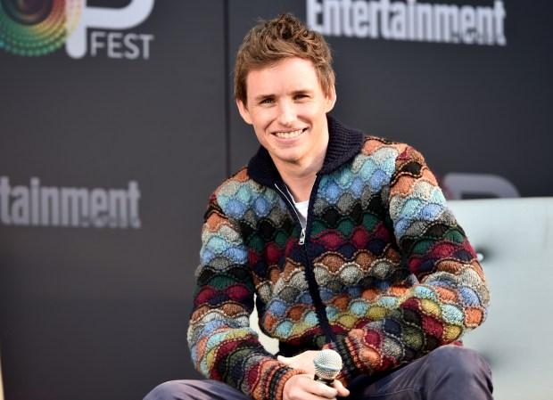 "LOS ANGELES, CA - OCTOBER 30: Actor Eddie Redmayne speaks onstage during the ""Fantastic Beasts and Where to Find Them"" panel at Entertainment Weekly's PopFest at The Reef on October 30, 2016 in Los Angeles, California. (Photo by Alberto E. Rodriguez/Getty Images for Entertainment Weekly)"
