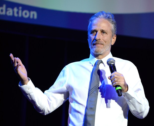 NEW YORK, NY - NOVEMBER 01: Jon Stewart performs on stage as The New York Comedy Festival and The Bob Woodruff Foundation present the 10th Annual Stand Up for Heroes event at The Theater at Madison Square Garden on November 1, 2016 in New York City. (Photo by Kevin Mazur Photography/Getty Images for The Bob Woodruff Foundation)