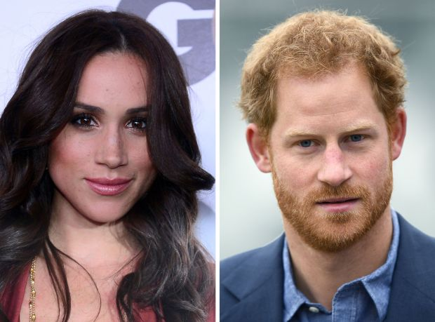 "(FILES) This combination of file photos created in London on November 8, 2016, shows Meghan Markle (L) as she poses on arrival for the GQ Men of the Year Party in Hollywood, California, on November 13, 2012, and Britain's Prince Harry as he arrives at Lord's cricket ground in London on October 7, 2016.Britain's Prince Harry confirmed on November 8, 2016, he is dating US actress Meghan Markle as he hit out at the ""wave of abuse and harassment"" she has suffered in recent weeks. In an unprecedented statement from Kensington Palace, the prince, 32, urged media organisations to refrain from ""further damage"" as he blasted the smears and ""racial undertones"" appearing in newspaper articles. / AFP PHOTO / FREDERIC J. BROWN AND Justin TALLISFREDERIC J. BROWN,JUSTIN TALLIS/AFP/Getty Images"