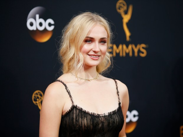 Sophie Turner arrives at the 68th Primetime Emmy Awards on Sunday, Sept. 18, 2016, at the Microsoft Theater in Los Angeles. (Photo by Danny Moloshok/Invision for the Television Academy/AP Images)