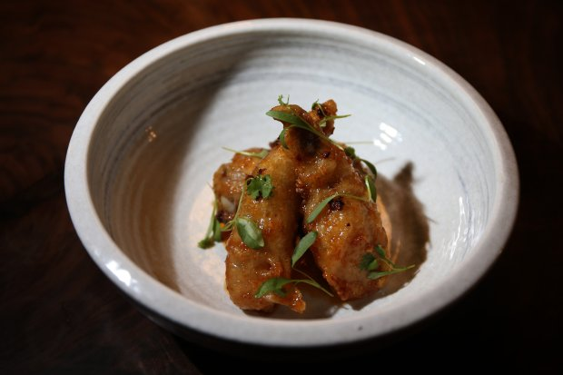 Stuffed chicken wings is one of the menu items at Nomica restaurant in San Francisco, Calif., on Wednesday, Oct. 26, 2016. (Ray Chavez/Bay Area News Group)