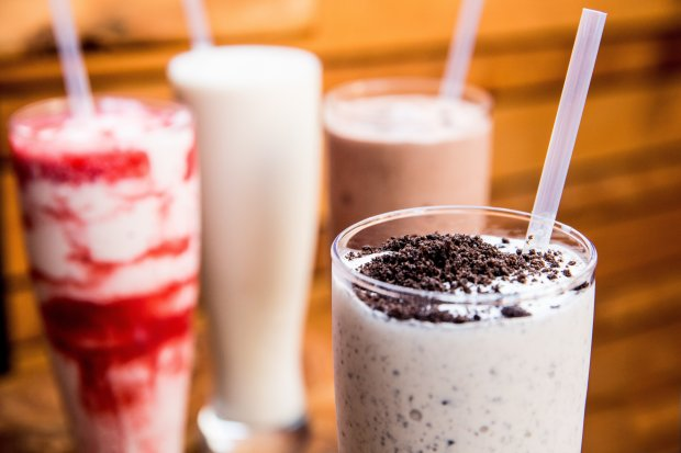 Boozy milkshakes have become a hot trend at hot spots around the Bay Area,including Los Gatos' Super Duper Burgers, where the Strawberry, Cookies & Cream and Double Chocolate & Chips shakes are spiked with a shot. (Photo: Super Duper Burgers)