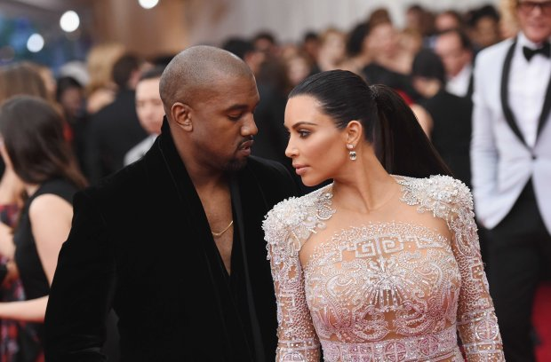 NEW YORK, NY - MAY 04: Kanye West (L) and Kim Kardashian attend the 'China:Through The Looking Glass' Costume Institute Benefit Gala at the Metropolitan Museum of Art on May 4, 2015 in New York City. (Photo by Mike Coppola/Getty Images)