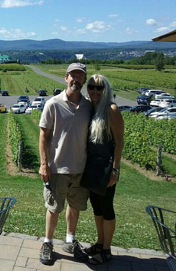 Courtesy of the Minshull Family QUEBEC: Campbell residents Robert and Vanessa Minshull visited Quebec City this summer on a trip that included a stop at a winery on Orleans Island, pictured.