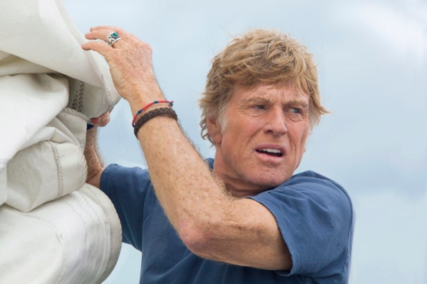 "Of his role in J.C. Chandor's ""All Is Lost,"" Robert Redford says, ìI loved the fact that there was no dialogue and there were no special effects, and I was concentrating on the character and getting into him.î (Daniel Daza/Roadside Attractions)"