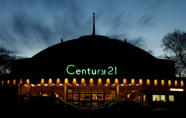 (Nhat V. Meyer/Bay Area News)The Century 21 dome theater in San Jose, Calif. on Wednesday, March 19, 2014. Preservationists have been working for many months to save the Century 21 dome, including an online change.org petition that has gathered more than 5,800 signatures since June 2013.