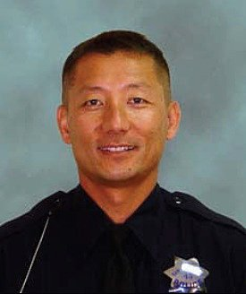 South San Francisco Officer Robby Chon was in critical condition Friday after being hit in the head with a skateboard by a fleeing suspect Thursday afternoon, according to police. (Courtesy of the South San Francisco Police Department)