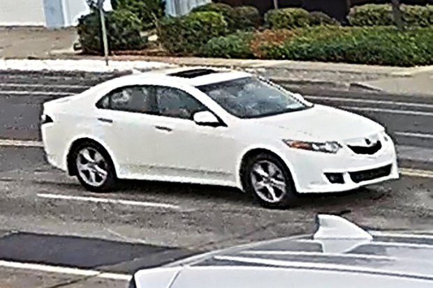 The Sunnyvale Department of Public Safety is searching for this 2009-10 Acura TSX, which was involved in a fatal hit-and-run collision on Fremont Avenue east of Sunnyvale-Saratoga Road on Oct. 24. (Courtesy of the Sunnyvale Department of Public Safety).