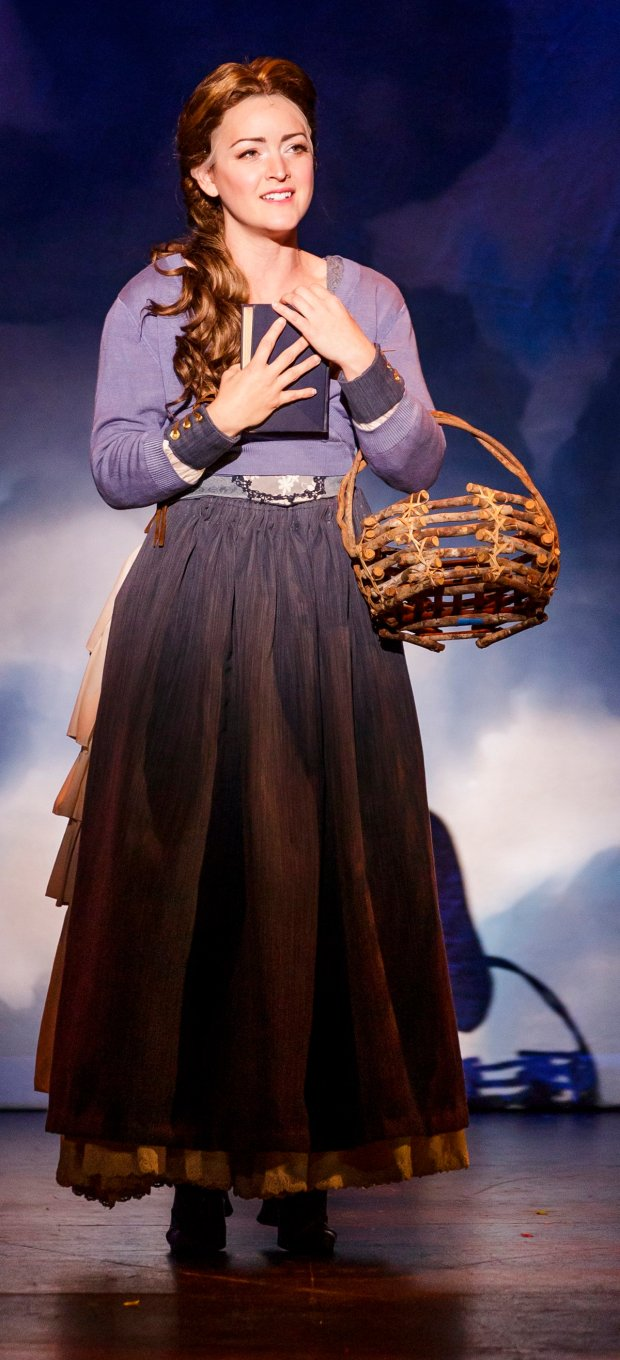 Anya Absten as Belle in Broadway By The Bay's production of �Beauty and the Beast,� playing Nov. 4 through Nov. 20, 2016, at the Fox Theatre in Downtown Redwood City. (Mark Kitoaka / Broadway By The Bay)