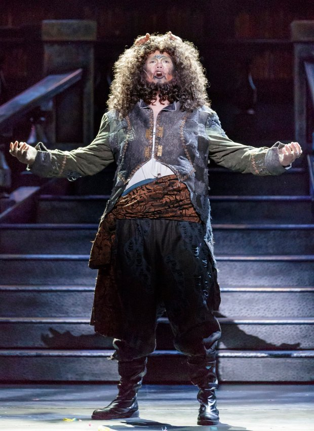 Daniel Rubio as The Prince/Beast in Broadway By The Bay's production of �Beauty and the Beast,� playing Nov. 4 through Nov. 20, 2016, at the Fox Theatre in Downtown Redwood City. (Mark Kitoaka / Broadway By The Bay)