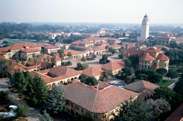 Aerial view of Stanford University.Credit: Linda A. Cicero / Stanford News Service