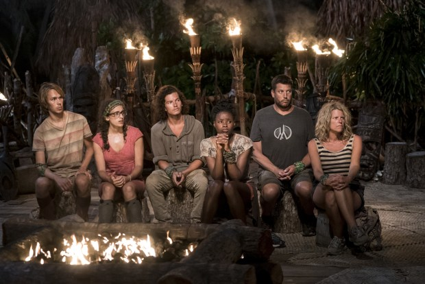 """I Will Destroy You"" - Will Wahl, Hannah Shapiro, Justin Starrett, Michaela Bradshaw, Bret LaBelle and Sunday Burquest at Tribal Council on the seventh episode of SURVIVOR: Millennials vs. Gen. X, airing Wednesday, Nov. 2 (8:00-9:00 PM, ET/PT) on the CBS Television Network. Photo: Monty Brinton/CBS Entertainment ©2016 CBS Broadcasting, Inc. All Rights Reserved."