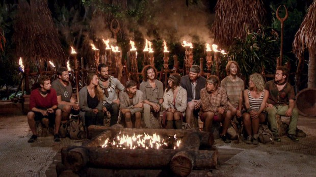 """Still Throwin' Punches"" - Adam Klein, Bret LaBelle, Jessica Lewis, Ken McNickle, David Wright, Justin Starrett, Hannah Shapiro, Chris Hammons, Taylor Stocker, Will Wahl, Sunday Burquest and Ezekiel/Zeke Smith at Tribal Council on the ninth episode of SURVIVOR: Millennials vs. Gen. X, airing Wednesday, Nov. 16 (8:00-9:00 PM, ET/PT) on the CBS Television Network. Photo: Screen Grab/CBS Entertainment ©2016 CBS Broadcasting, Inc. All Rights Reserved."