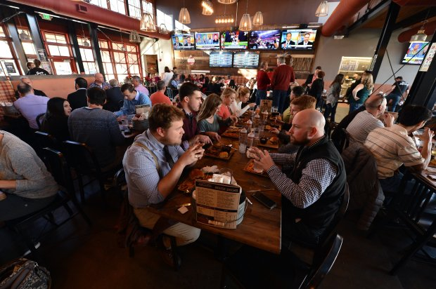 Sauced BBQ & Spirits is open for business in the former Pyramid Brewing location in Walnut Creek, Calif., on Friday, Dec. 16, 2016. (Kristopher Skinner/Bay Area News Group)