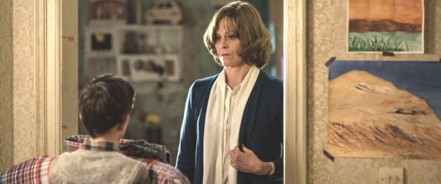 """Lewis MacDougall plays Conor, and Sigourney Weaver plays Grandma in """"AMonster Calls."""" (Quim Vives/Focus Features)"""