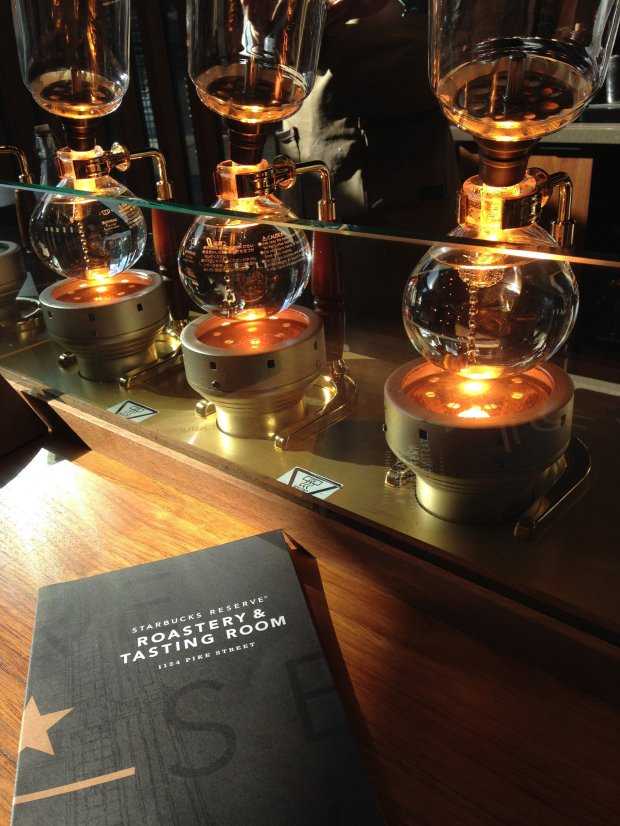 Seattle's year-old Starbucks Reserve Roastery and Tasting Room serves uptasting experiences that would be right at home in a Hogwarts potions lab. (Photo: Jackie Burrell/Bay Area News Group)