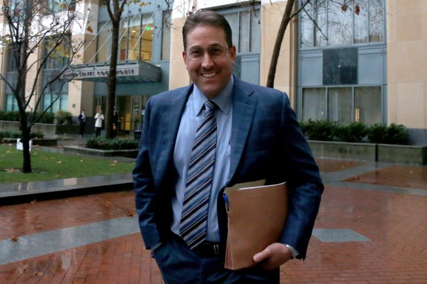 Developer Albert Seeno III walks outside the Federal Courthouse after pleading guilty to bank fraud on behalf of his home sales company, Discovery Sales, in Oakland, Calif., on Thursday, Dec. 8, 2016. Seeno was ordered to pay $11 million as part of a mortgage scam to boost the sales of Seeno homes in 2006-2008. (Ray Chavez/Bay Area News Group)