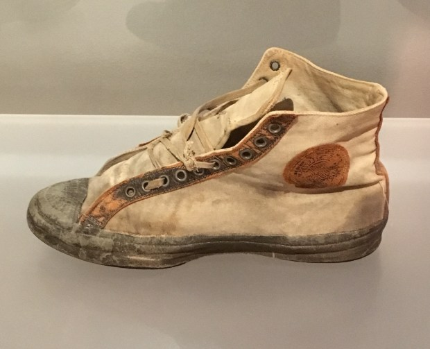 A pair of 1923 Converse All-Stars.