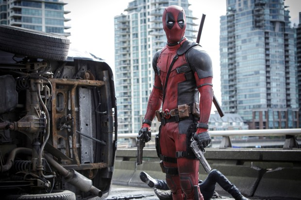"This image released by Twentieth Century Fox shows Ryan Reyonlds in a scene from the film, ""Deadpool."" The film was nominated for a Golden Globe award for best motion picture musical or comedy on Monday, Dec. 12, 2016. The 74th Golden Globe Awards ceremony will be broadcast on Jan. 8, on NBC. (Joe Lederer/Twentieth Century Fox Film Corp. via AP)"