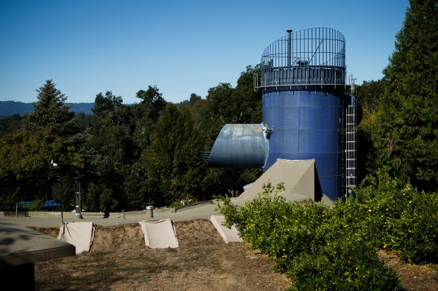 "An exterior view of the ""Submarine"" house, Oct. 9, 2015 in Santa Cruz Mountains. (Dai Sugano/Bay Area News Group)"