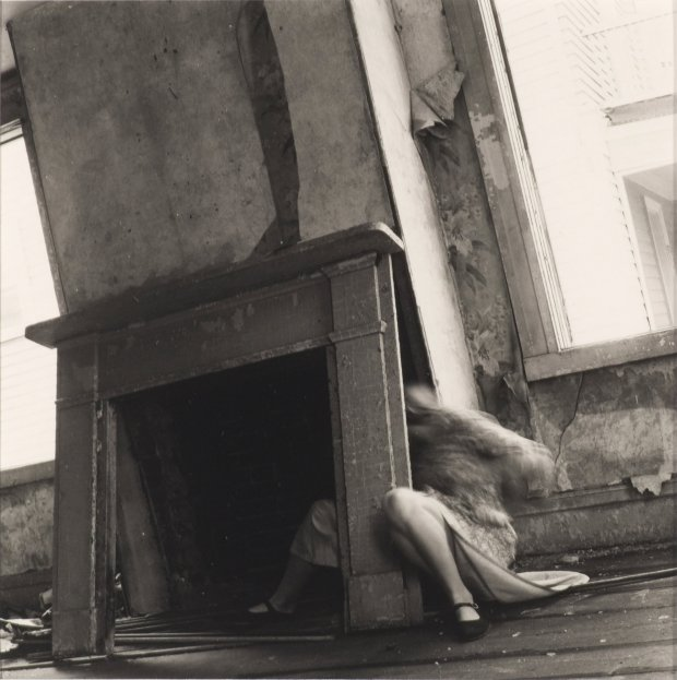 """House #4, Providence, Rhode Island, 1975-1976, 1975/76,"" by FrancescaWoodman, is featured in ""The Conjured Life: The Legacy of Surrealism"" at the Cantor Arts Center through April 3.(Museum of Contemporary Art Chicago)"