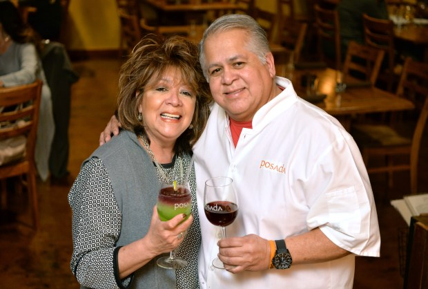 Blanca and Eduardo Posada, owners of the Posada restaurant, are photographed in Livermore, Calif., on Thursday, Jan. 26, 2017. The contemporary southwestern restaurant has been one of Livermore's most popular since opening and it is still a hot spot after a renovation that expanded the kitchen, doubled the dining room and seating, added a glass-enclosed wine cellar and a small bar. (Doug Duran/Bay Area News Group)