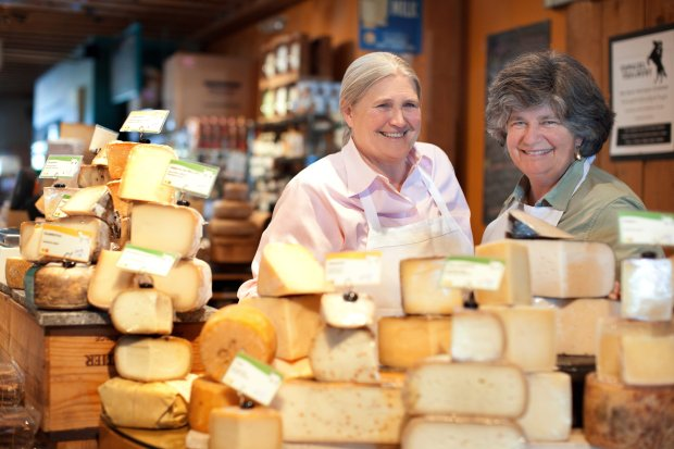 Cowgirl Creamery founders Peggy Smith, left, and Sue Conley will be doingculinary demonstrations and cheese tasting workshops at this winter's Taste of Yosemite series. Smith was a longtime Chez Panisse chef and Conley co-founded Berkeley's Bette's Diner before the duo opened the creamery in 1994. (Photo: Cowgirl Creamery)