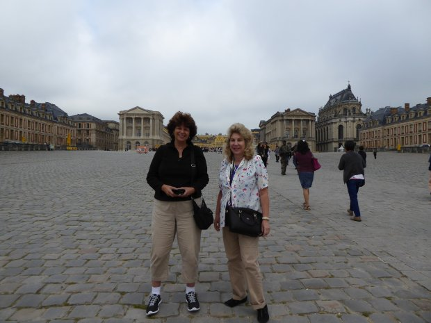 FRANCE: Andrea Lanzafame Campos and her friend Linda Kyriazi -- classmatesat Pittsburg High, class of 1971 -- rendezvoused in Paris this summer. (Photo courtesy Campos Family)