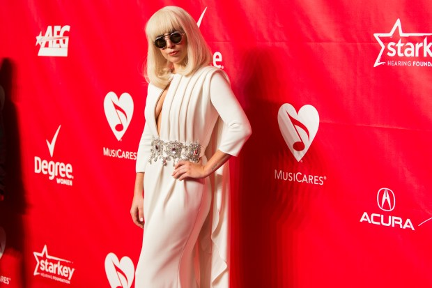 Singer Lady Gaga arrives at the MusiCares 2014 Person of the Year Tribute on Friday, January 24, 2014 in Los Angeles. (Photo by Paul A. Hebert/Invision/AP)