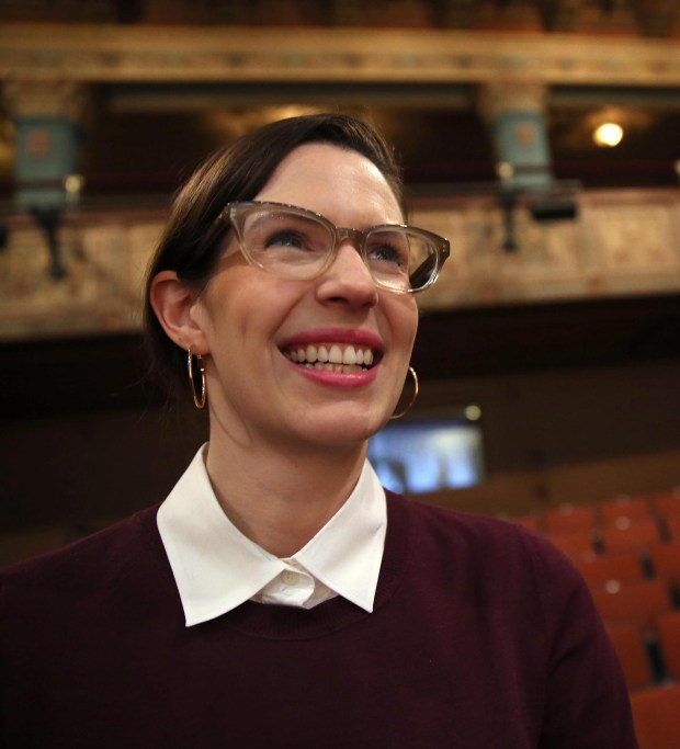 """Playwright Lauren Gunderson at SF Playhouse on Thursday, Feb. 27, 2014. Gunderson's """"The Taming"""" is being read at more than 40 theaters nationwide on Jan. 20, 2017, as fundraisers for many organizations. (Jane Tyska / Bay Area News Group)"""