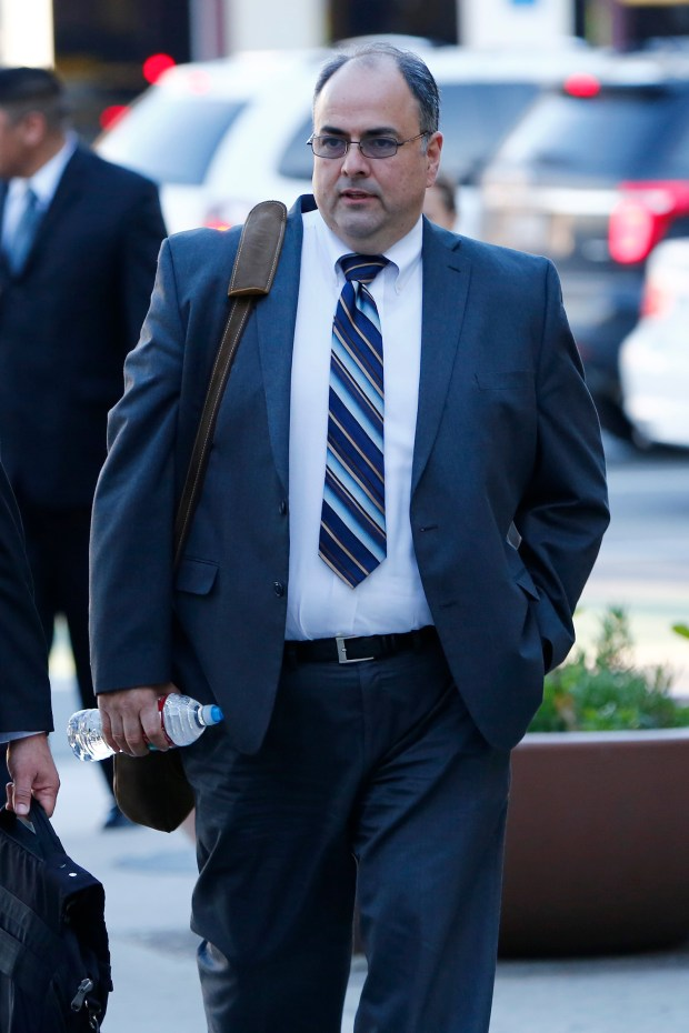 Al Lopez, defense attorney for Antolin Garcia-Torres arrives at the Santa Clara County Hall of Justice in San Jose, Calif., on Tuesday, Jan. 31, 2017. Garcia-Torres is accused of killing 15-year-old Morgan Hill resident Sierra LaMar and hiding her body in March of 2012. The trial began yesterday. (Gary Reyes/Bay Area News Group)