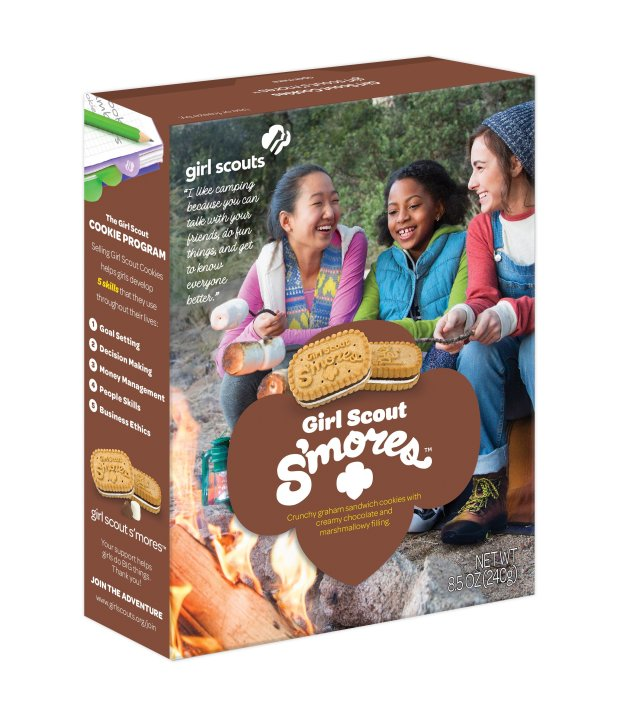 S'mores are the new cookie in the Girl Scouts' sales lineup for 2017. Thecookie that pays homage to the great camp-out treat will be on sale from Feb. 1 through March 5 in Northern California.(Photo courtesy of the Girl Scouts)