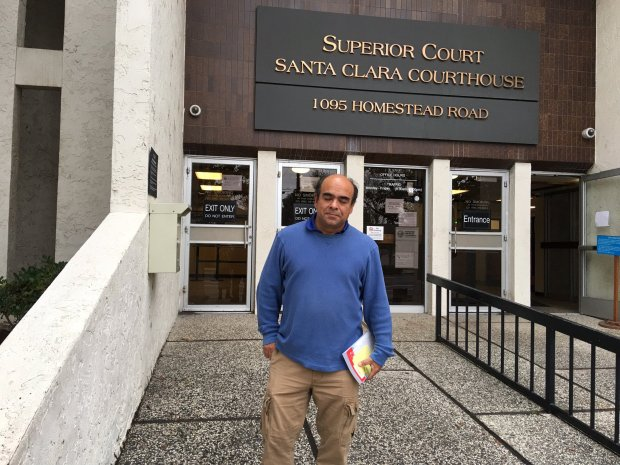 Morgan Hill resident Mario Ramirez showed up on Jan. 4, 2017, at the Santa Clara traffic court to take care of his speeding ticket, but the clerks hadn't typed it into the system yet. Until the ticket is entered, he cannot resolve the matter in any way, meaning he can't pay the fine, ask to go to traffic school or fight it in court. (Tracey Kaplan/Bay Area News Group)