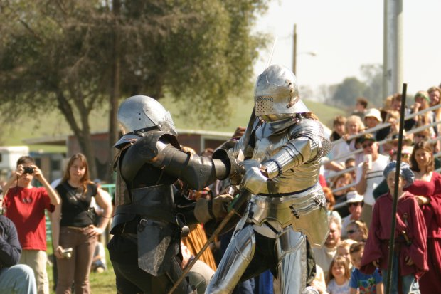The Sonora Celtic Faire's international ultimate jousting competition isdone on horseback with lances and full armor by professional MMA fighters and athletes trained in this medieval style of combat. (Photo: VisitTuolumne)