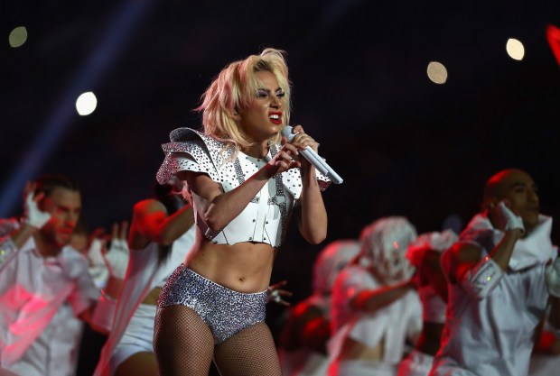 Lady Gaga performs during the Pepsi Zero Sugar Super Bowl 51 Halftime Show at NRG Stadium on February 5, 2017 in Houston, Texas. (Al Bello/Getty Images)