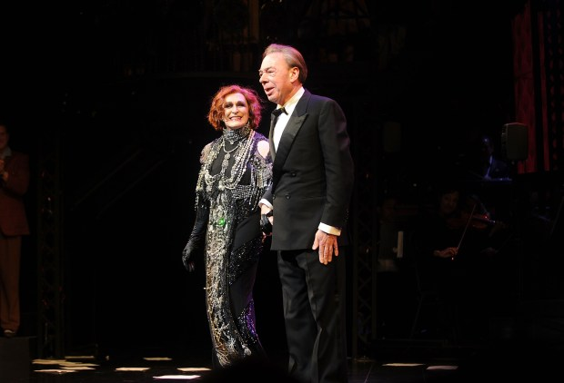 NEW YORK, NY - FEBRUARY 09: Actor Glenn Close and Andrew Lloyd Webber attend the curtain call for Andrew Lloyd Webber's SUNSET BOULEVARD Opens On Broadway Starring Glenn Close on February 9, 2017 in New York City. (Photo by Brad Barket/Getty Images for Sunset Boulevard)