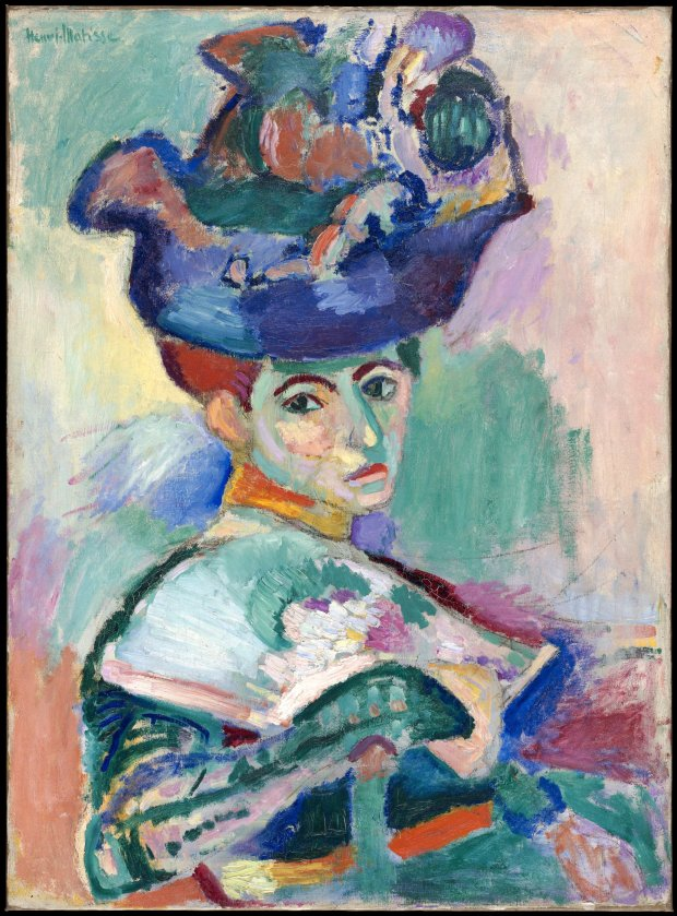 """Femme au chapeau"" (Woman with a Hat) (1905), by Henri Matisse. (©Succession H. Matisse/Artists Rights Society, New York)"