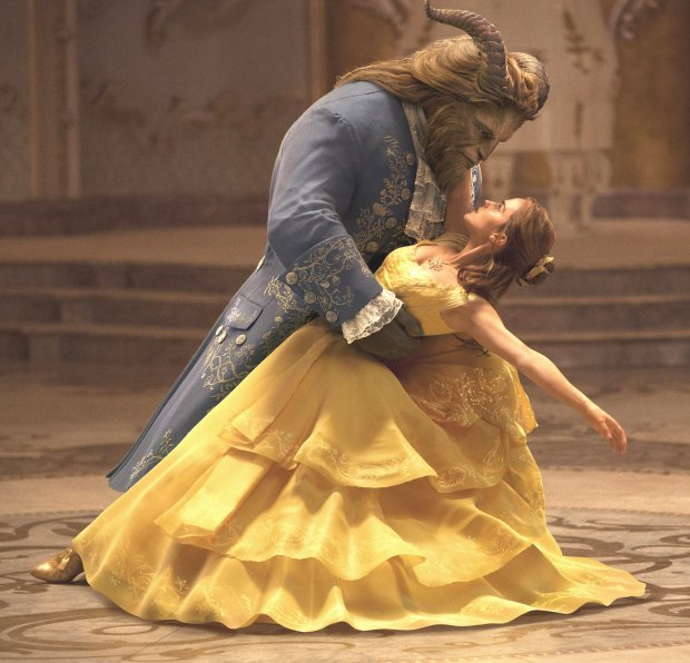 "Dan Stevens, left, plays the Beast, and Emma Watson plays Belle in ""Beautyand the Beast."" (Disney)"