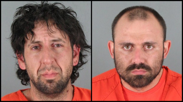 San Jose residents Mario Darosa, 36, and Joseph Goulart, 31, were arrested March 4, 2017 after allegedly trying to steal an ATM in Half Moon Bay and leading authorities on a chase to San Jose. (San Mateo Co. Sheriff's Office)