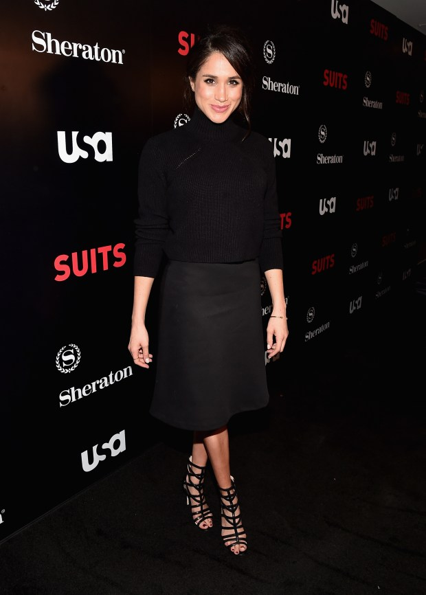 "LOS ANGELES, CA - JANUARY 21: Actress Meghan Markle attends the premiere of USA Network's ""Suits"" Season 5 at the Sheraton Los Angeles Downtown Hotel on January 21, 2016 in Los Angeles, California. (Photo by Alberto E. Rodriguez/Getty Images)"